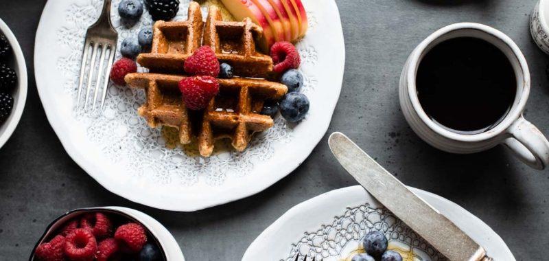 Apple Oatmeal Blender Waffles